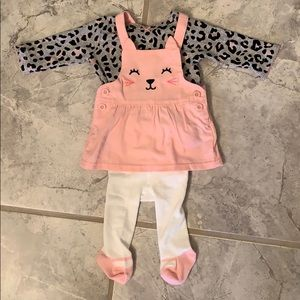 Newborn kitty overall outfit